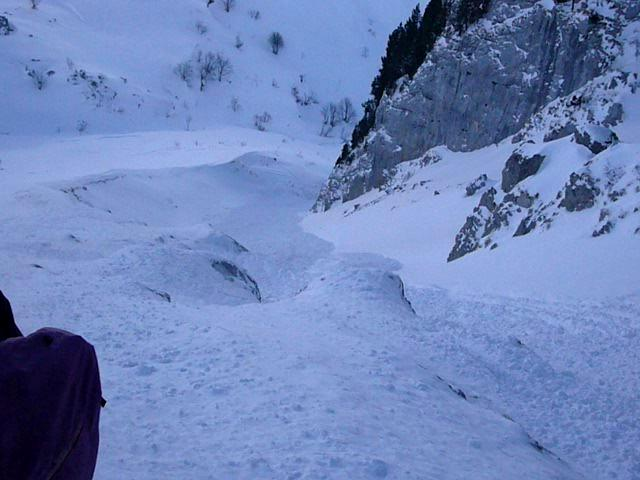 Avalanche Bauges, secteur Trélod, Couloir Nord - Photo 1