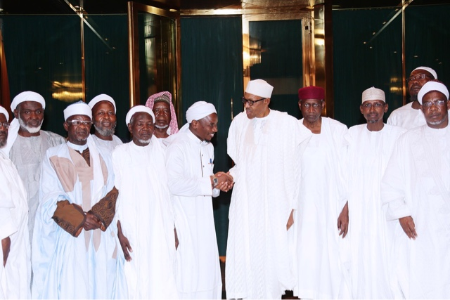 President Buhari receives members of the Council of Abuja Imams (PHOTOS) 3