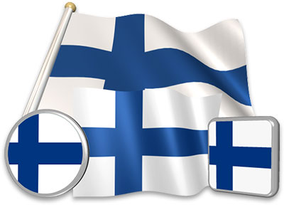 Finnish flag animated gif collection
