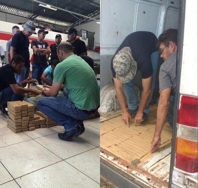 Operação conjunta das policias do Maranhão e Piauí prende dupla de traficantes com 200kg de maconha