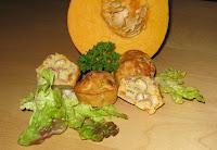 Mini-cakes potiron, noisettes et lardons - recette indexée dans les Entrées