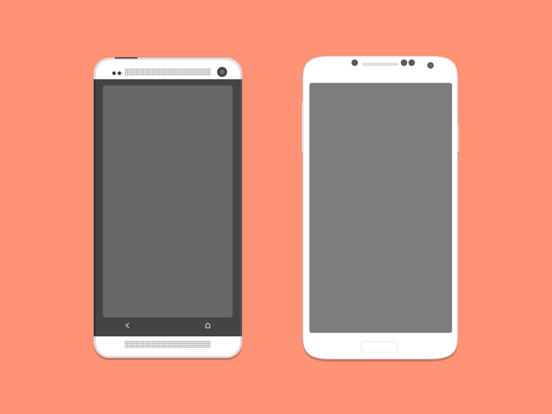 Free Mockups HTC One & Galaxy S4