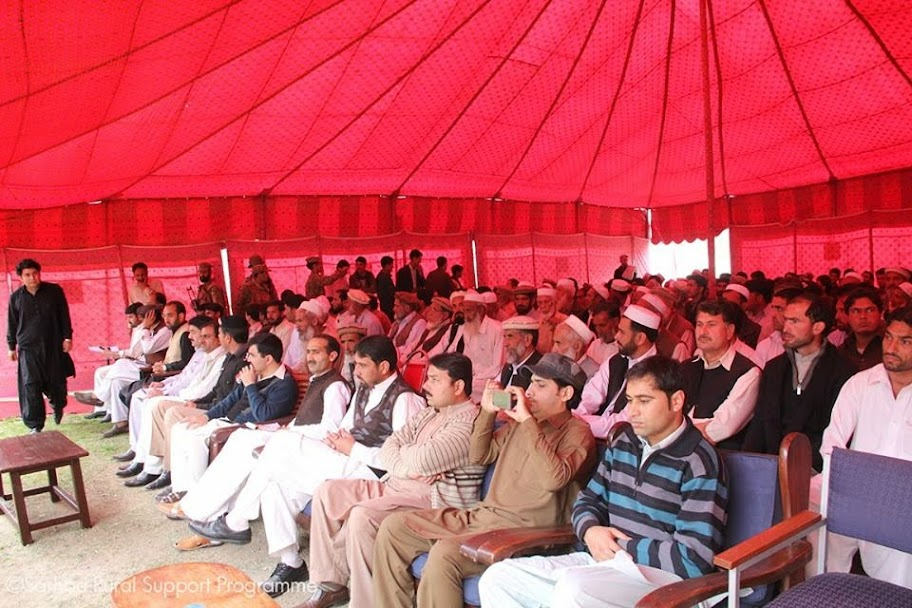 Local people of Lajbok Dir Lower present in the inauguration ceremony of MHP
