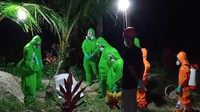 Babinsa Banyuroto Pro Aktif Mengamankan Pemakaman Jenazah Terkonfirmasi Covid 19