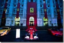 La Ferrari arriva a Piazza Affari a Milano