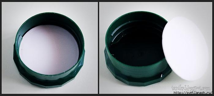 Копилка из стеклянной кофейной банки - вынимаем кружок картона