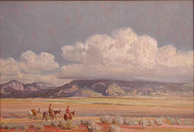 """Storm Clouds over Taos Mountain"""