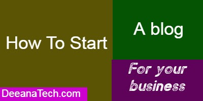 Create a blog for your business