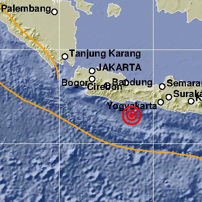 Gempa Bumi Cilacap Dirasakan Hingga Sukabumi