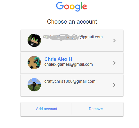 Why is my account name not showing up on the login page