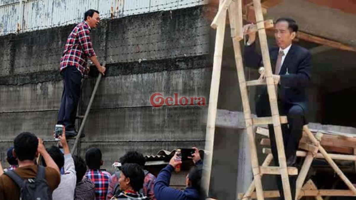 Ahok Naik Jokowi Turun
