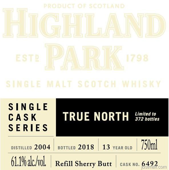 Highland Park True North Single Cask Series