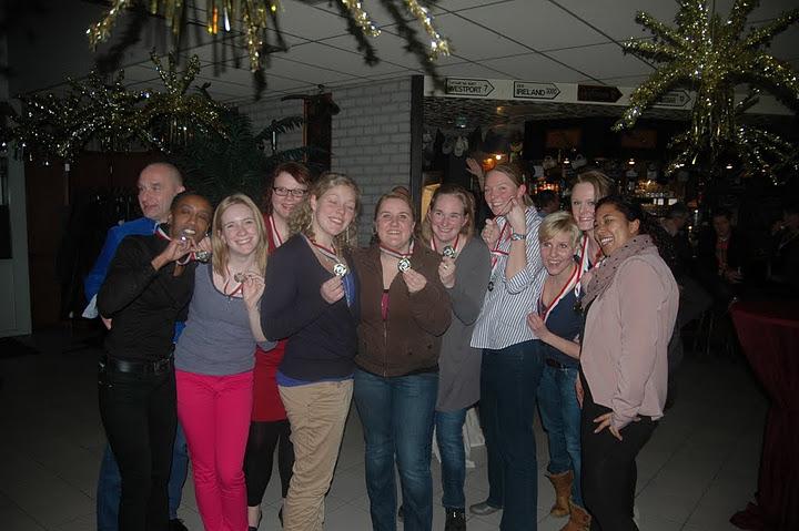 Winterkampioenen!Dames 1/2, januari 2011