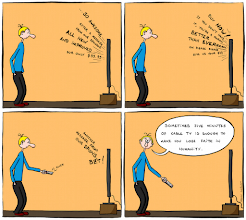 Photo: http://www.bonkersworld.net/five-minutes-of-tv/ #comic