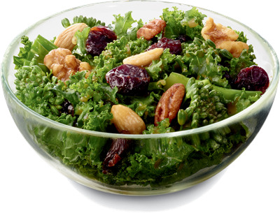 Superfood-Side kale salad