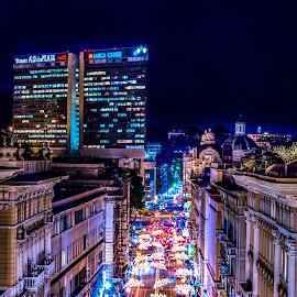 by Alessandro Scacchetti - City,  Street & Park  Night