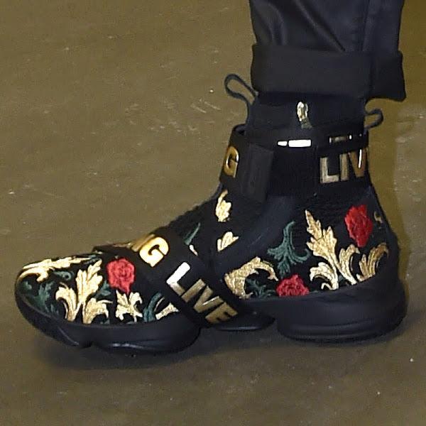 LBJ Rocks Two LeBron 15s KITH Pregame and Cavs PE Ingame