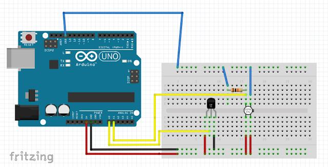 Arduino 連接 LM35 和 TGS2620