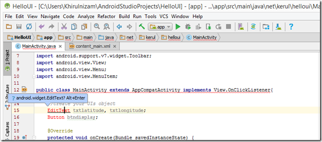 object-name-of UIs