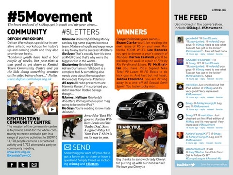 #5 Magazine App  - Movement Tweets