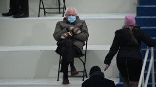 Bernie attending a virtual meeting