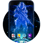 Futuristic Launcher Theme for Samsung S7: Hologram