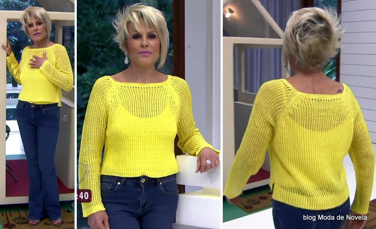 moda do programa Mais Você - look da Ana Maria Braga dia 1º de agosto