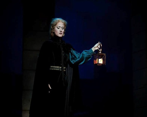 IN PERFORMANCE: Soprano AMY MAPLES as Gilda in Piedmont Opera's production of Giuseppe Verdi's RIGOLETTO, October 2015 [Photo © by Traci Arney Photography; used with permission]