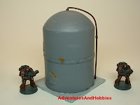 Vertical domed storage tank Industrial Science Fiction war game terrain and scenery - UniversalTerrain.com