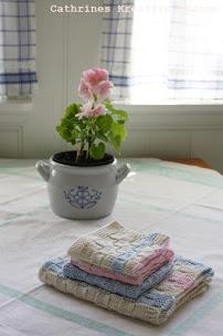Cathrine Design: Kjøkken håndkle og klut med ruter!