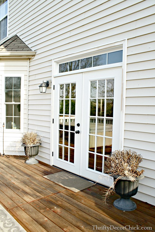 French doors with transom