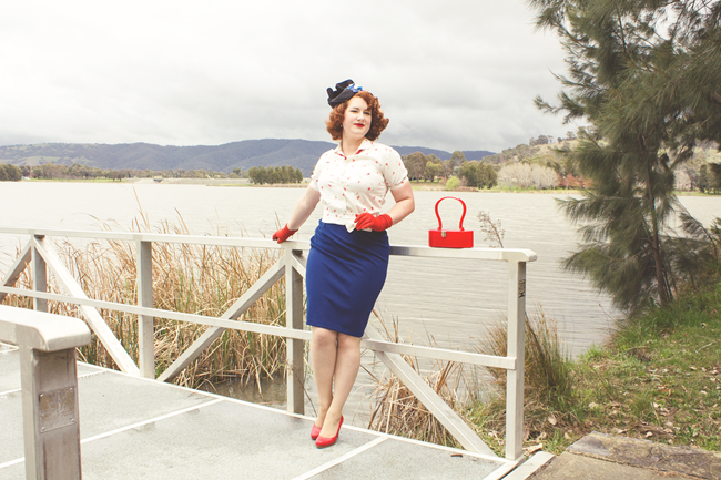 1950's style featuring Tanith Rowan Designs | Lavender & Twill