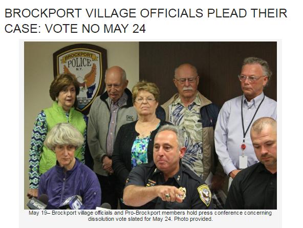 Brockport Village Officials Plead Their Case: Vote NO! May 24