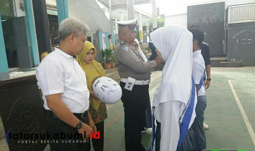 Pelajar SMAN 1 Cibadak Jadi Duta Pelajar Lalu lintas Sukabumi