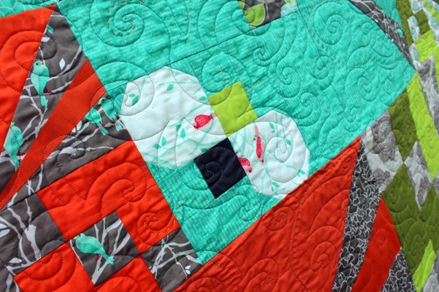 Flight School Quilt Close Up