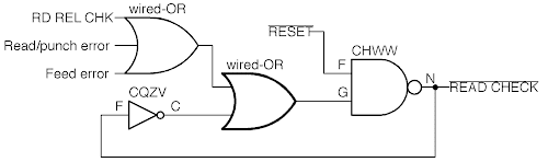 The read check latch circuit redrawn with modern symbols.