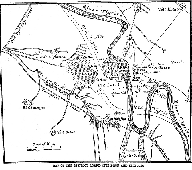 La zona di Ctesifonte nel IV secolo