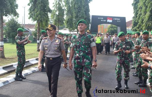 Jalin Sinergitas, Polres Sukabumi Kota dan Yonif 310 KK Bentuk Keluarga Asuh