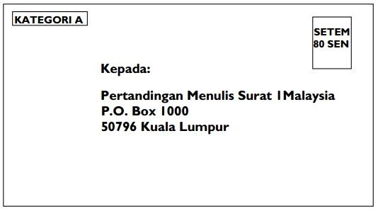 PERTANDINGAN MENULIS SURAT 1 MALAYSIA 2012