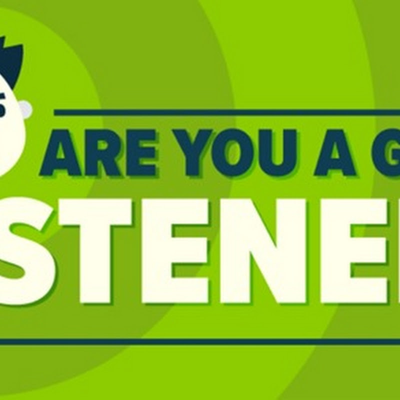 INFOGRAPHIC: ARE YOU A GOOD LISTENER?
