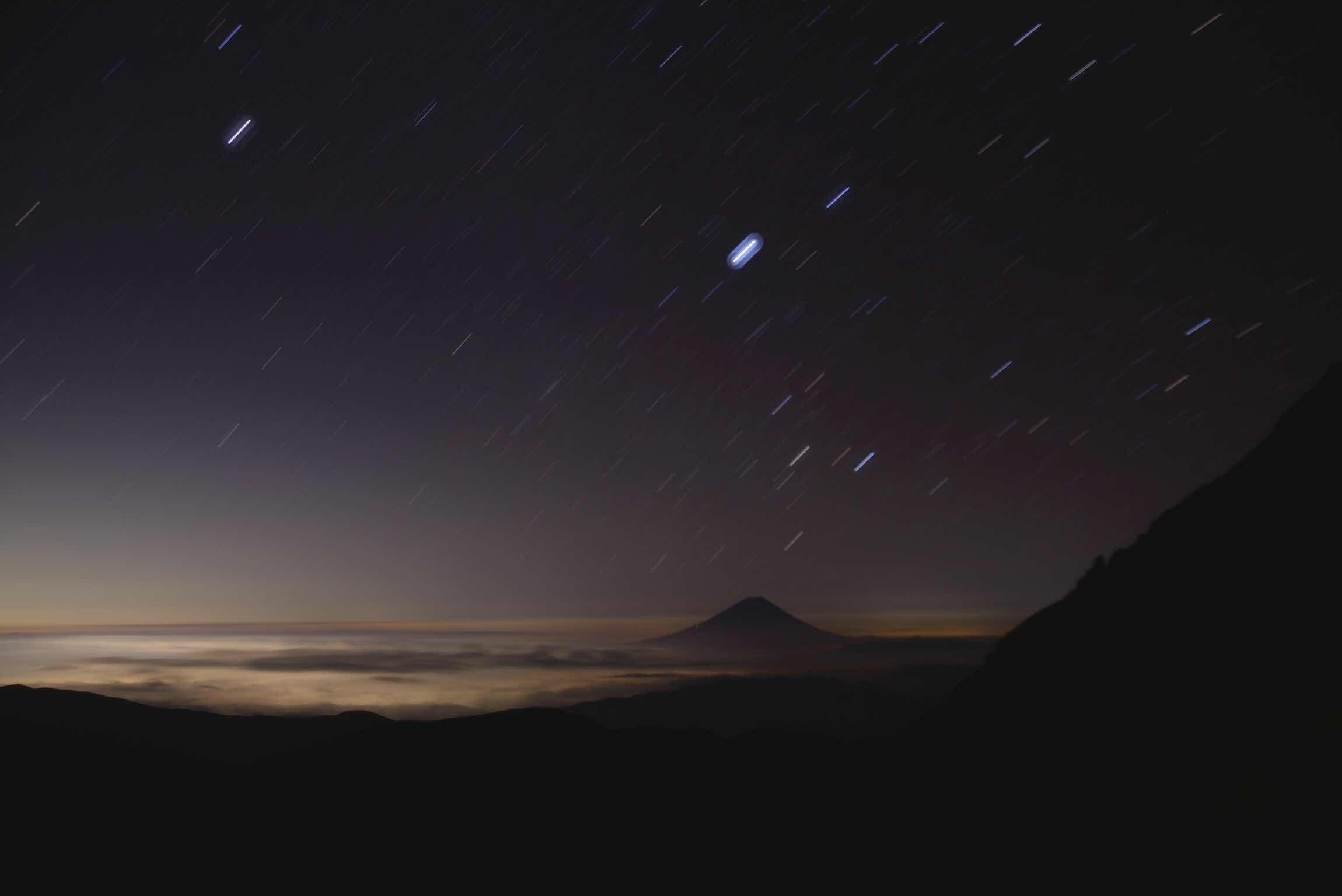 北岳肩の小屋 星空