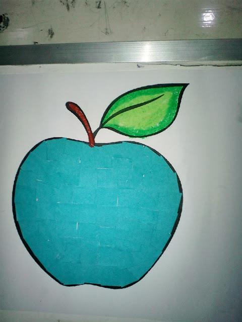 Gambar Kolase Apel Kertasbulat