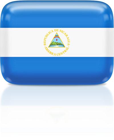 Nicaraguan flag clipart rectangular