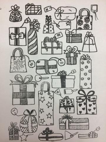 jamestown elementary art blog fourth grade graphic design wrapping paper. Black Bedroom Furniture Sets. Home Design Ideas