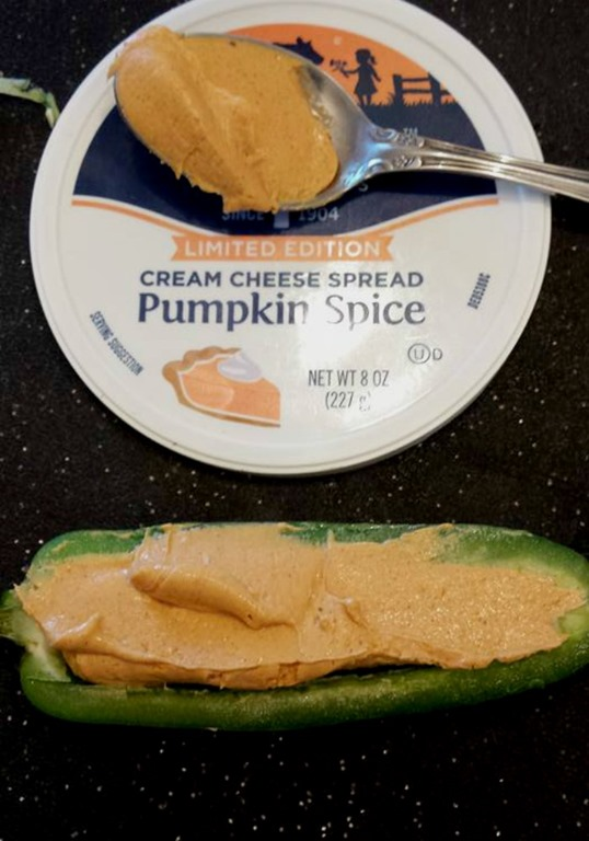 pumpkin cream cheese in jalepeno