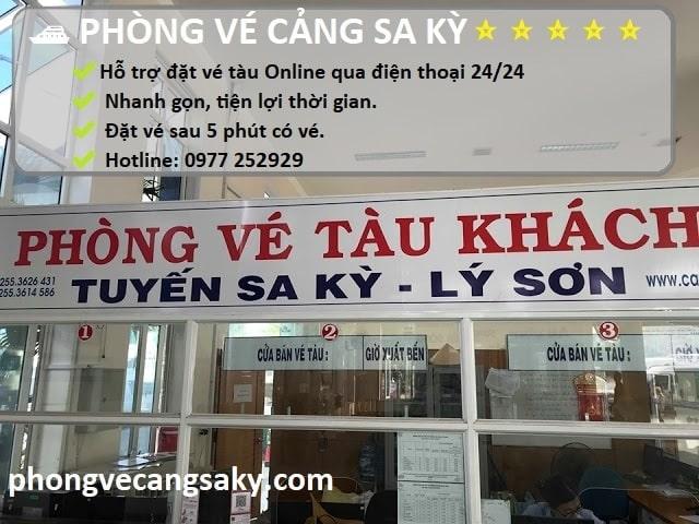 Phòng vé cảng Sa Kỳ Lý Sơn