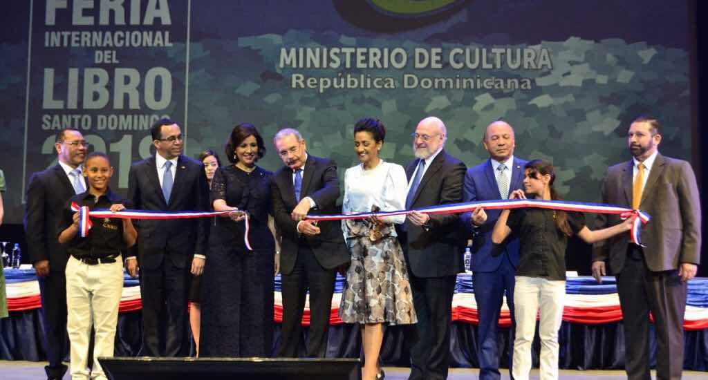 Presidente Medina deja inaugurada Feria Internacional del Libro Santo Domingo 2018
