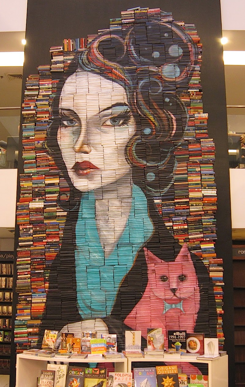 book mural at Fully Booked at Bonifacio High Street