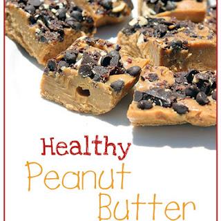 Good-For-You Peanut Butter Freezer Fudge.