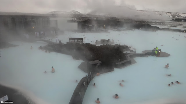 Blue Lagoon in Iceland in Grindavík, Suournes, Iceland